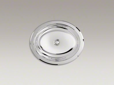 Bachata Drop-In/Undermount Bathroom Sink with Mirror Finish and Overflow Finish: Mirror