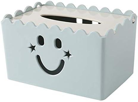 Bleu VIccoo Support de Couverture de bo/îte de mouchoirs en Papier en Cuir et Organisateur de Rangement pour Voiture et Maison