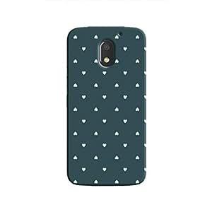 Cover It Up - Tiny Green Hearts Moto E3Hard Case