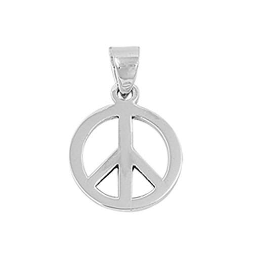 Peace Sign Pendant .925 Sterling Silver Charm - Silver Jewelry Accessories Key Chain Bracelet Necklace Pendants