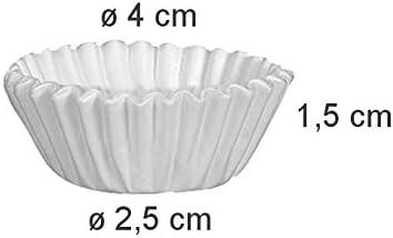 4 cm Bianco Tescoma 630620 Delicia Pirottini 200 Pezzi Carta