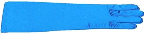 15インチShinyネオンターコイズ色サテンオペラ手袋プロムウェディング