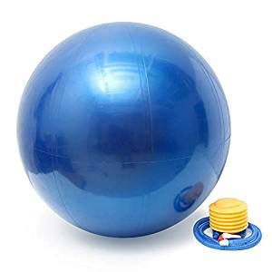 BeachBody Premium Exercise Ball (55 cm)- Balance Ball Perfect for Yoga or Home Gym - Stability Ball for Office Seating & More - Anti-Burst Fitness Ball with Pump & Training Guide