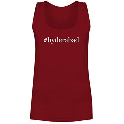 #Hyderabad - A Soft & Comfortable Hashtag Women's Tank Top, Red, Small
