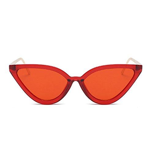 Eye Gafas Aiweijia de Vintage Rojo Gafas Cat Gafas para mujer Retro sol sol de Sq1IXp1