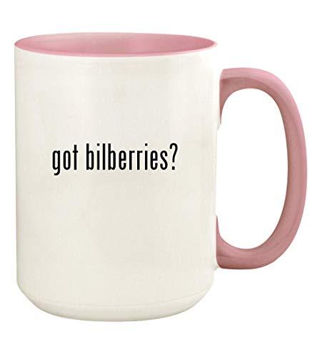 - got bilberries? - 15oz Ceramic Colored Handle and Inside Coffee Mug Cup, Pink