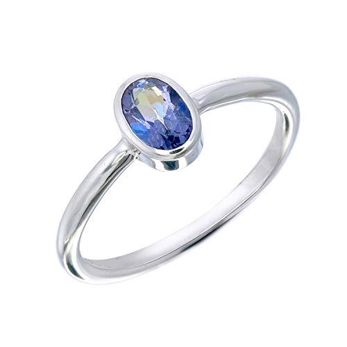 Blue Mystic Topaz Oval Stack Ring Size 6