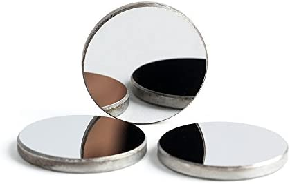 Thk 3mm 0.79 Inch Cloudray Mo Mirrors Dia 20mm for CO2 Laser Engraving Cutting Machine Pack of 3PCS 0.12 Inch