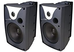6 Outdoor Speaker Black and Trans. pair (Catalog Category: Installation Equipment / Speco Accessories)