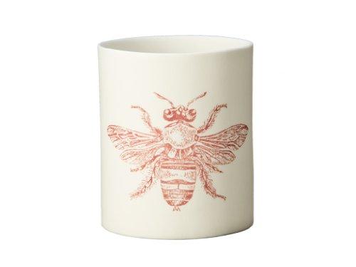 KOUBOO Bee Porcelain Votive Candle Holder, Print in Brown