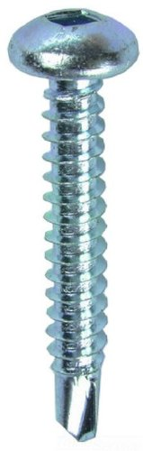100-Pack Dottie TEKDD10114 Self Drilling Screw L.H 10 by 1-1//4-Inch Length Square Pan Head Zinc Plated