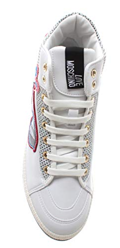Bianco Donna Pu Do New Sneakers Vit White I Scarpe Moschino Love Sunglasses YEagq