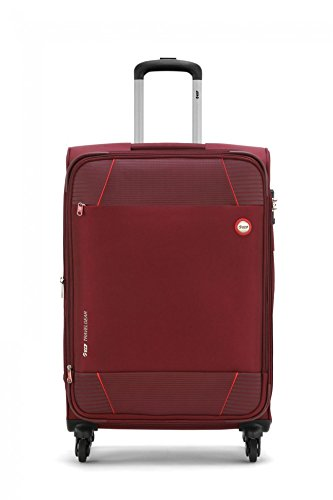 VIP Conquer Polyester 4 Wheels Softsided Check-In Luggage (Wine Red, 71-cm 24-inch)