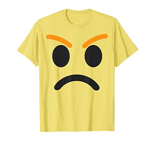 Angry Face Emoji Easy Lazy Group Halloween Costume
