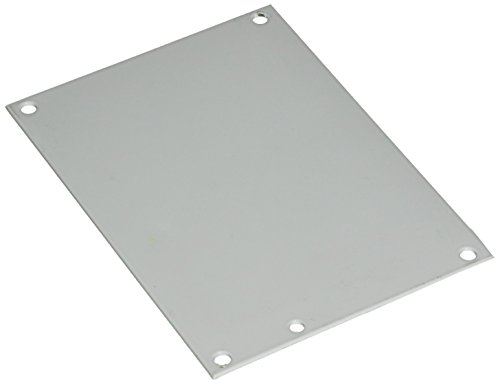 "Hoffman A8P6 Conductive Panels for JIC Enclosure, Steel/Aluminum, J Box/6.75"" x 4.88"", Fits 8"" x 6"", White"