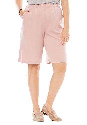 Women's Plus Size 7-Day Knit Short Rose (Rose Knit Pants)