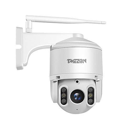 TMEZON PTZ WiFi Outdoor IP Security Camera 1080P 2-Megapixel Wireless Pan Tilt Zoom Night Vision CCTV Home Surveillance Cameras,2 Way Audio Motion Detection