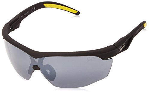 Ironman Men's Tenacity Wrap Sunglasses, Matte Black Rubberized, 136 - Ironman Glasses Sun