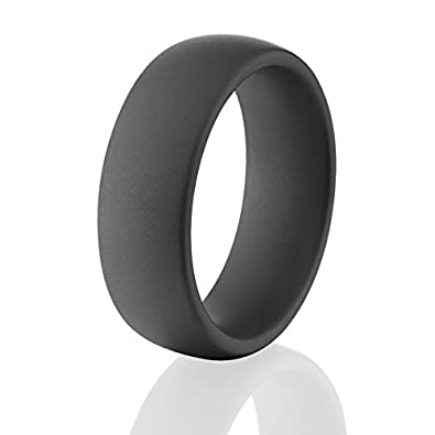 Black Military Matte Ceramic Rings Black Mens Wedding Bands