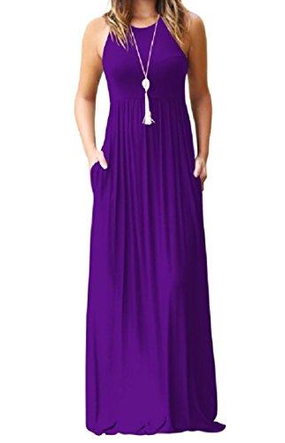 Vestito Di Viola Salone Imbracatura donne Puro Tasche Coolred Pieno Di Colore Conforto Lunghezza 67zx8qg