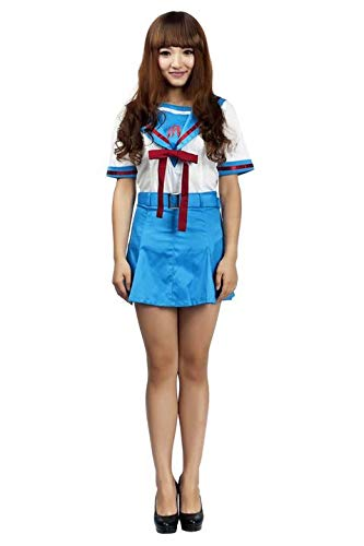 Mtxc Women's The Melancholy of Suzumiya Haruhi Cosplay School Summer Uniform