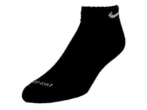 Low Training (Nike Dri-FIT Low-Cut Training Socks (Large/6 Pair) Black/White Size Large)