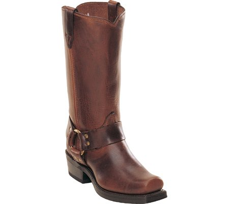 Durango Men's Harness Cowboy Boot Square Toe Brown 14 EE (Square Toe Harness Boot)