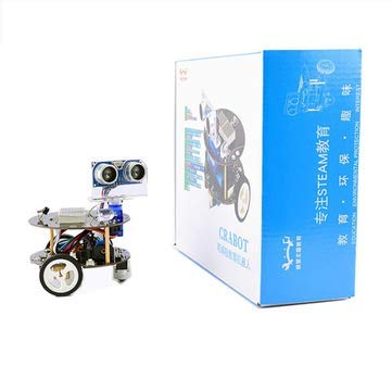 Mini Crabot Cratch Programmable Educational Smart Robot DIY Kit for with Handle Remote/Infrared Remote Control Support USB Charging - DIY Kits Smart Robot & Solar Panel - Set 2