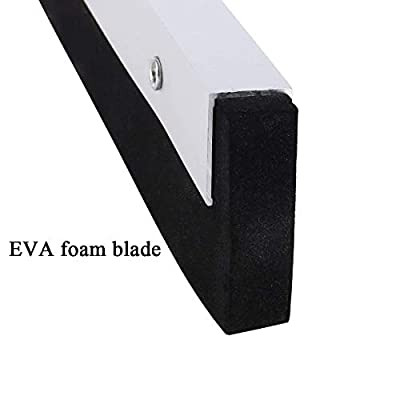 """YCUTE Commercial Heavy Duty Floor Squeegee with 25.6"""" EVA Foam Blade, 54.3'' Stainless Steel Long Handle Best for Washing & Drying Tile Glass Marble and Wood Surfaces"""