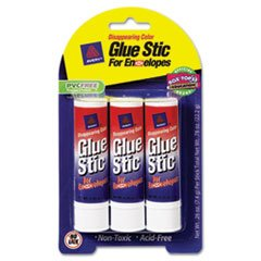 ** Glue Stic for Envelopes, .26 oz, Stick, 3/Pack ()
