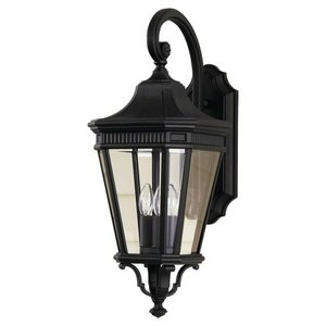 Murray Feiss OL5402BK, Cotswold Lane Outdoor Wall Sconce Lighting, 180 Total Watts, Black