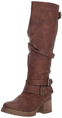 Carlos by Carlos Santana Women's Gwyneth Fashion Boot, Dark Brown, 9 Medium US