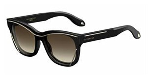 Givenchy Women's Metal Accent Sunglasses, Black Gold/Brown, One Size