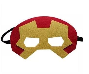 12 Pieces Superheroes Party Fun Cosplay Felt Masks For Boys Girls (Ironman)]()