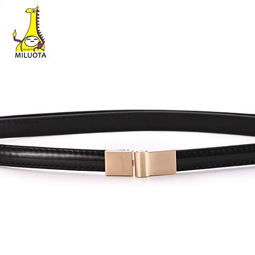 MILUOTA PU Leather Strap Fashion Women Without Piercing Dress Belt Female Straps Ceinture Femme Automatically Adjust Length MU236