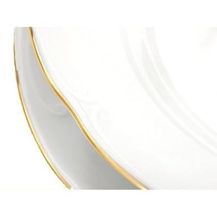 A BUSINESS DC VAJILLA Porcelana VERSALLES 69 Piezas con Filo DE Oro - 42 Piezas DE Mesa MAS Juego DE Cafe/TE 27 Piezas: Amazon.es: Hogar