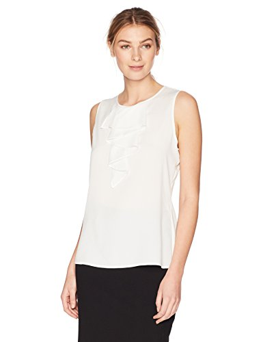 Lark & Ro Women's Tiered Ruffle Sleeveless Top