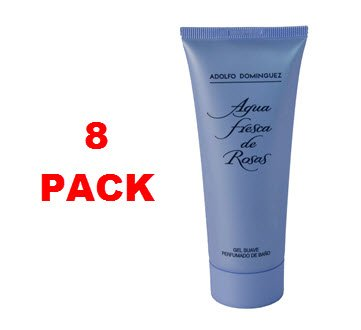 adolfo-dominguez-agua-fresca-de-rosas-gel-100ml-pack-of-8