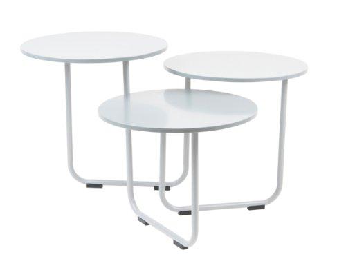 Couchtisch beistelltisch weiß design drehbar schwenkbar 3 platten