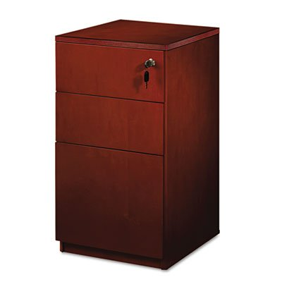 MLNPBBFT19C - Mayline Luminary Series Wood Veneer Freestanding Box/Box/File Pedestal