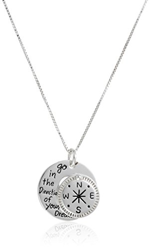 Sterling Direction Compass Pendant Necklace