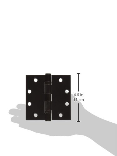Deltana S45BBU10B HD Ball Bearings Steel 4 1//2-Inch x 4 1//2-Inch Square Hinge