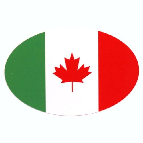 Italy-Canada maple oval sticker A1A SIGNS AND GRAPHICS INC