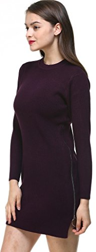 Robe 1 Femme's Pullover Round vogueearth Top Neck Chandail Sweater Ladies Fashion Tricots Violet Tunic Knit Jumper aqBOf