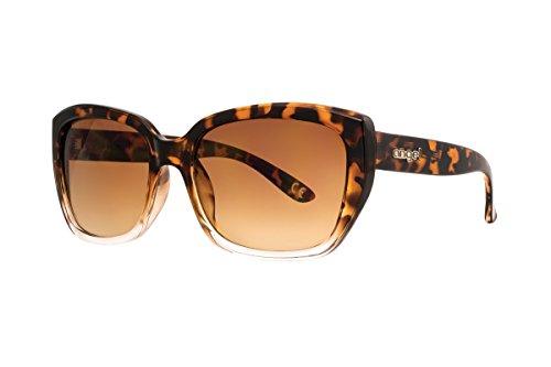 Anarchy Eyewear Women's Angel Anya Sunglasses, Shiny Dark Brown Demi/Clear - Eyewear Angel