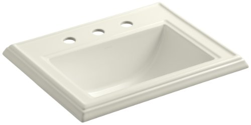 KOHLER K-2241-8-96 Memoirs Self-Rimming Bathroom Sink, (Kohler Memoirs Biscuit)