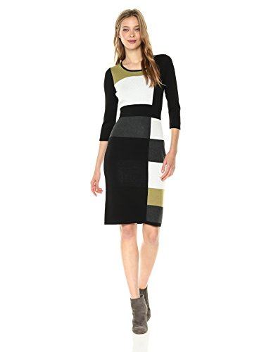 color block sheath dress - 4