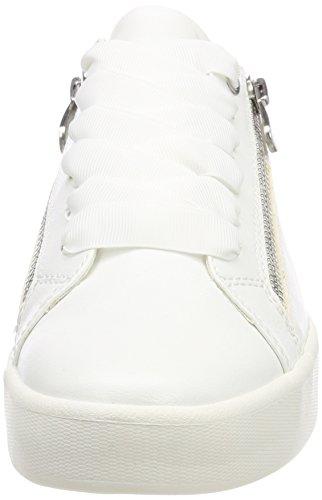 white Mujer 23775 Zapatillas Blanco Tozzi Marco Para FqURp