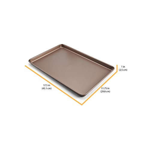Chicago Metallic 5212099 Elite Non-Stick Carbon Steel Large Cookie/Baking Sheet, 17-Inch-by-11.25-Inch, Bronze by Chicago Metallic (Image #5)