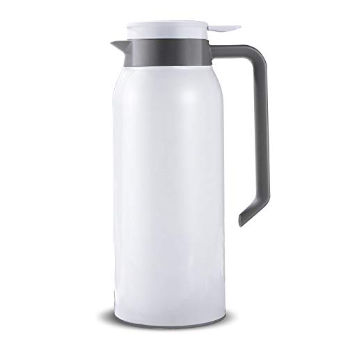 (52oz 18/8 Stainless Steel Thermal Coffee Carafe/Double Wall Vacuum Insulated Thermos / 12 Hour Heat Retention / 1.5 Litre (White))